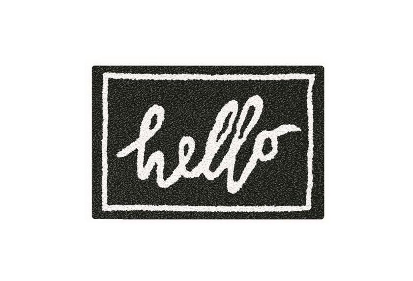 kleine wolke badteppich hello schwarz weiss badteppiche bei tepgo kaufen versandkostenfrei ab. Black Bedroom Furniture Sets. Home Design Ideas