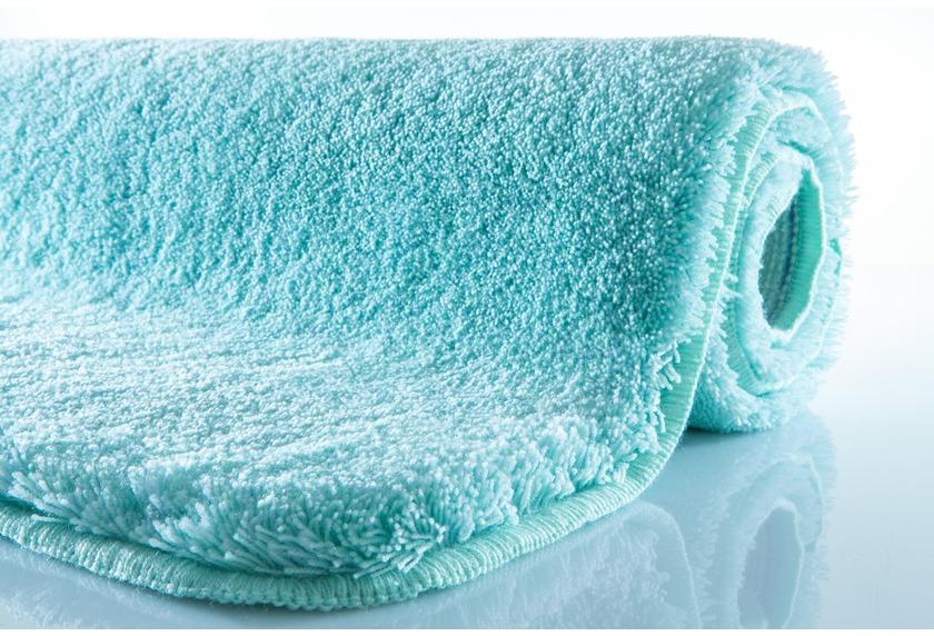 Kleine Wolke Badteppich Relax, Salbeigrün, rutschhemmender Rücken, Öko-Tex zertifiziert