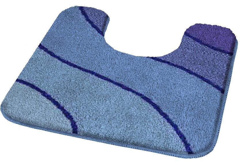 Kleine Wolke Badteppich Wave Marineblau