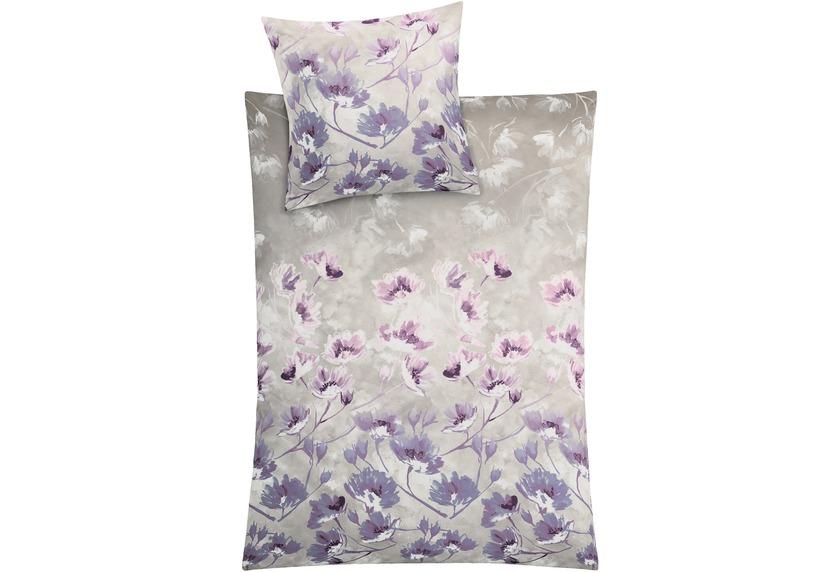 Kleine Wolke Bettwäsche Flora Aubergine