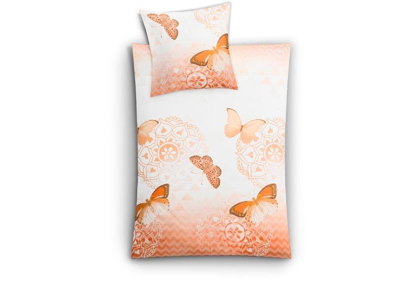 kleine wolke bettw sche papillon aprikose wohnaccessoires bei tepgo kaufen versandkostenfrei. Black Bedroom Furniture Sets. Home Design Ideas