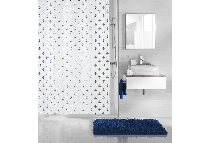 kleine wolke duschvorhang anchor dunkelblau 180x200 cm badaccessoires duschvorhang bei tepgo. Black Bedroom Furniture Sets. Home Design Ideas