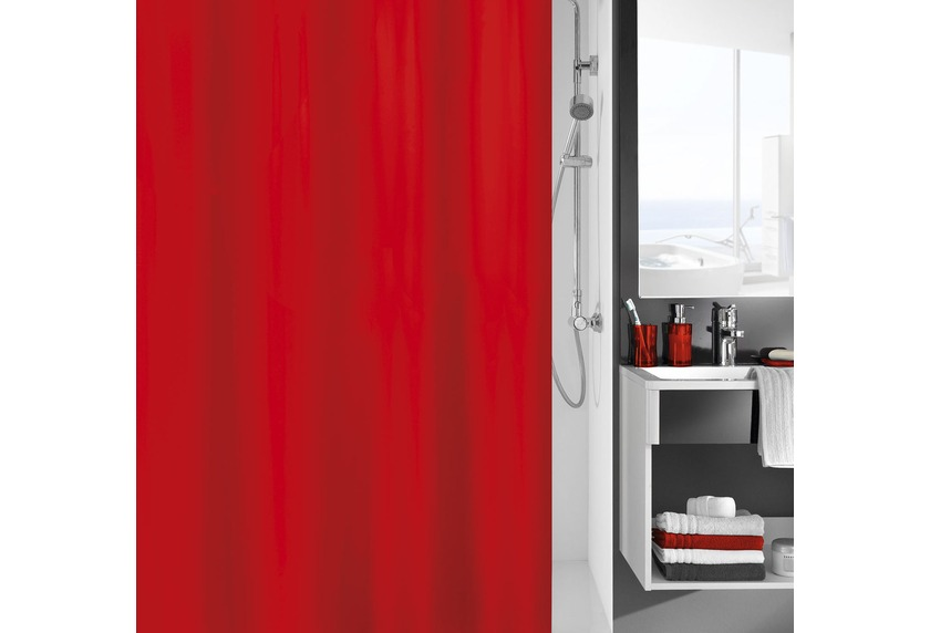 kleine wolke duschvorhang kito rot badaccessoires duschvorhang bei tepgo kaufen. Black Bedroom Furniture Sets. Home Design Ideas