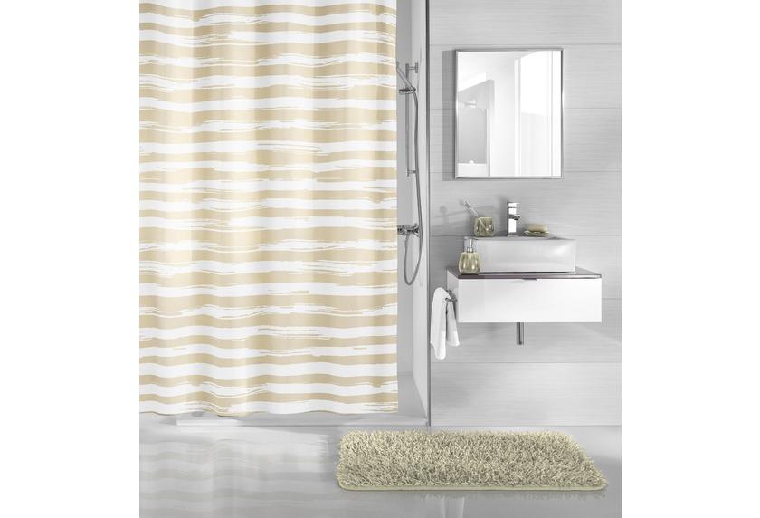 kleine wolke duschvorhang stripy sandbeige 180 x 200 cm. Black Bedroom Furniture Sets. Home Design Ideas