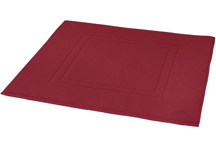 Kleine Wolke Badteppich Plaza Rot