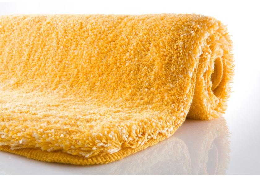 Kleine Wolke Badteppich, Relax, Goldgelb, rutschhemmender Rücken, Öko-Tex zertifiziert