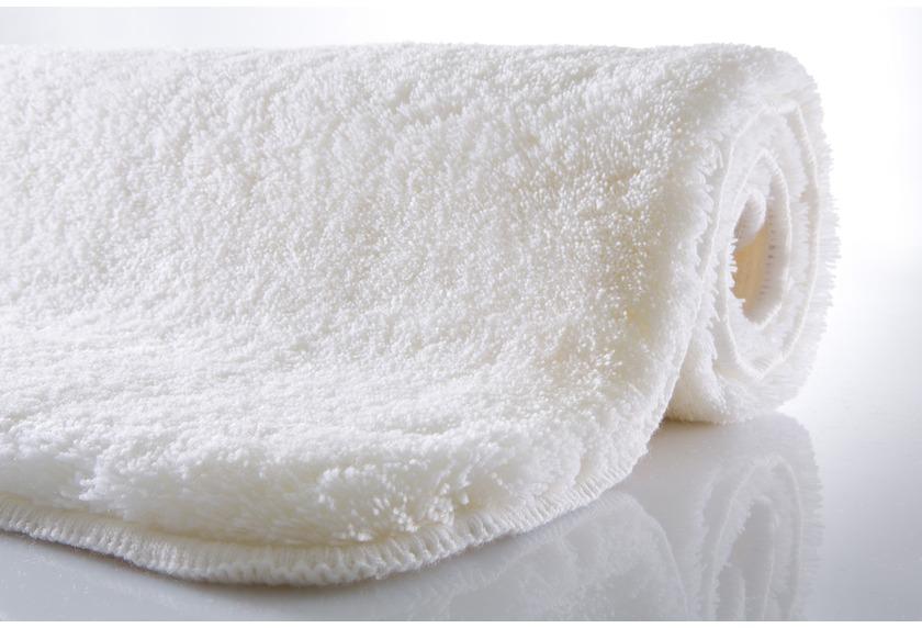 Kleine Wolke Badteppich Relax Polarweiss rutschhemmender Rücken Öko-Tex zertifiziert