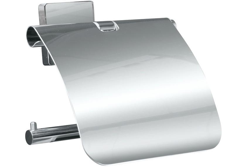 Kleine Wolke Rollenhalter mit Deckel Luno Silber