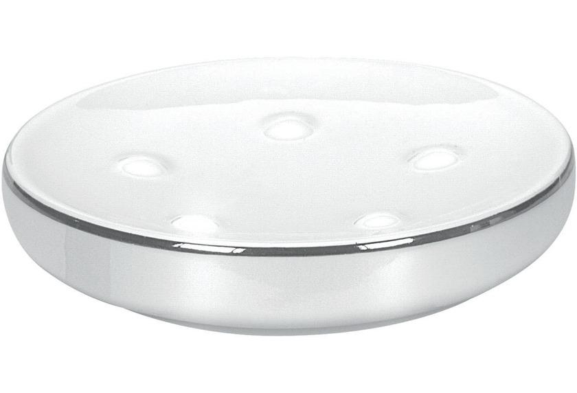 Kleine Wolke Seifenschale Noblesse, Weiss/Silber