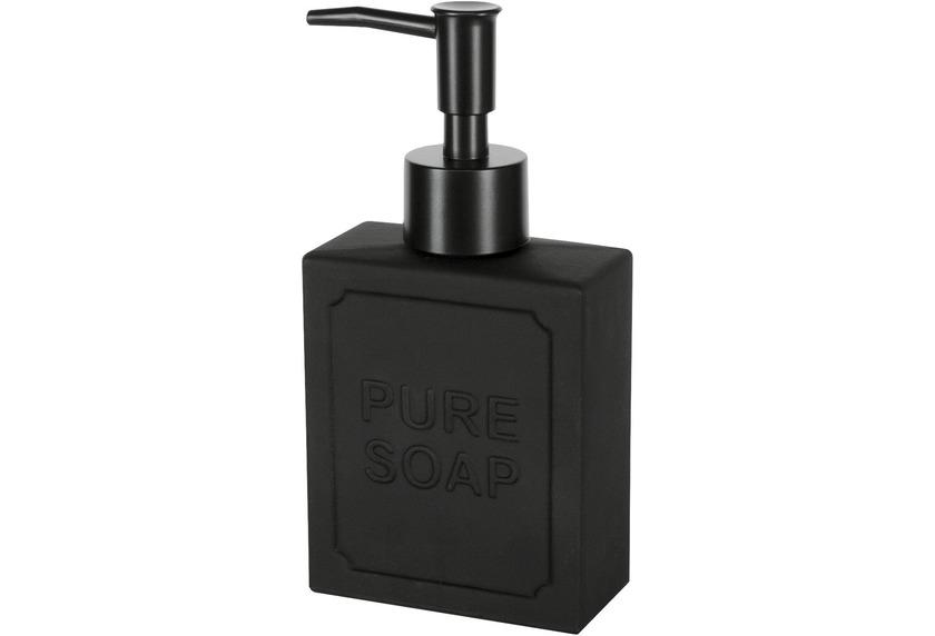 Kleine Wolke Seifenspender Soap Schwarz 8x15,5x4cm/ 175ml