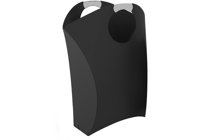 Kleine Wolke Wäschebox Origami Laundry Schwarz 50x25,5x51,5 cm Wäschebox