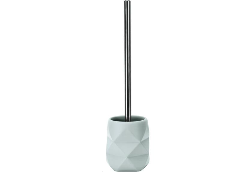 Kleine Wolke WC-Bürstenhalter Crackle, Opal 10,6x39x10,6