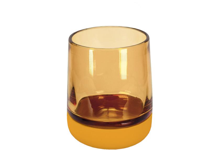 Kleine Wolke Zahnputzbecher Belly Goldgelb 8,4x10,2x8,4