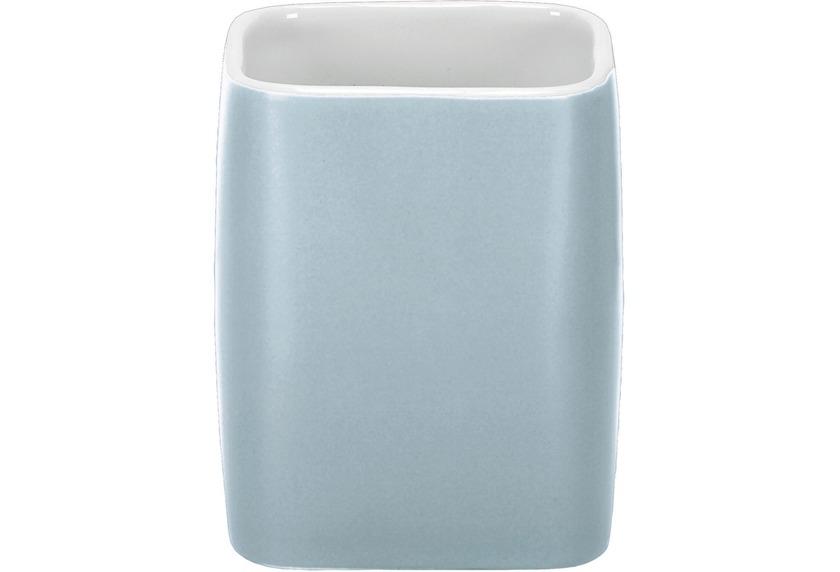 Kleine Wolke Zahnputzbecher Cubic, Wasserblau 7,4x9,1x7,4/300ml