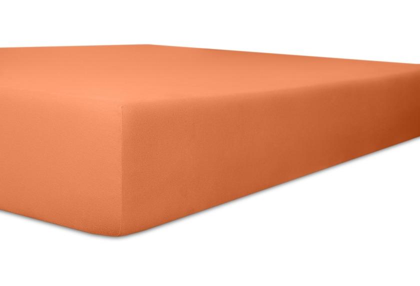 """Kneer Spannbettlaken Fein-Jersey \""""Qualität 50\"""" Farbe 70 karamel"""