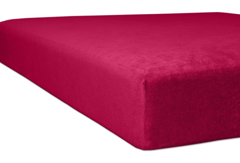 """Kneer Spannbettlaken Flausch-Frottee \""""Qualität 10\"""", Farbe 49 burgund"""