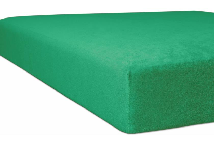 "Kneer Spannbettlaken Flausch-Frottee \""Qualität 10\"" Farbe 60 smaragd"