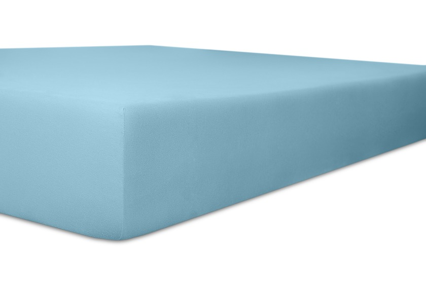 """Kneer Spannbetttuch Easy-Stretch \""""Qualität 251 Top 40\"""" Farbe 36 blau"""
