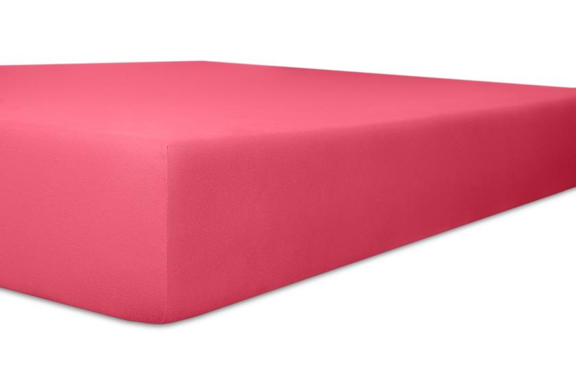 """Kneer Spannbetttuch Easy-Stretch \""""Qualität 25\"""" Farbe 20 pink"""