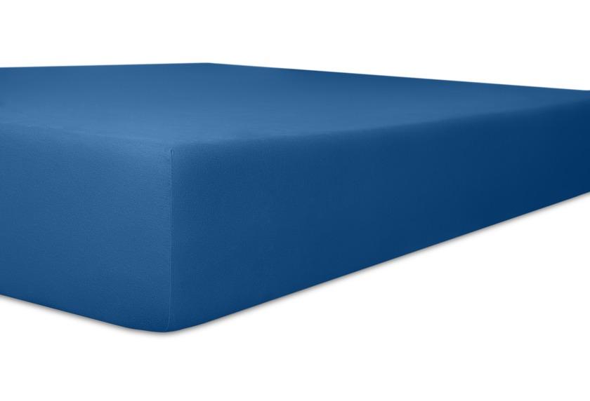 """Kneer Spannbetttuch Easy-Stretch \""""Qualität 25\"""", Farbe 40 kobalt"""