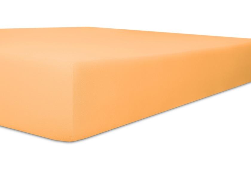"""Kneer Spannbetttuch Exclusive-Stretch \""""Qualität 93\"""" Farbe 08 pfirsich"""
