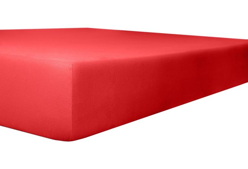 """Kneer Spannbetttuch Exclusive-Stretch \""""Qualität 93\"""" Farbe 42 rubin"""