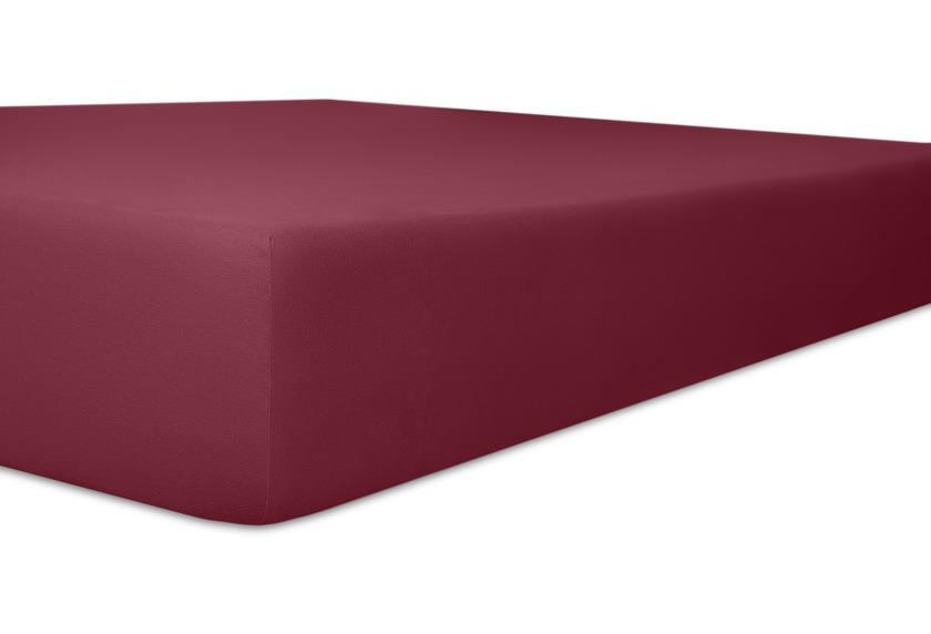"""Kneer Spannbetttuch Exclusive-Stretch \""""Qualität 93\"""" Farbe 49 burgund"""