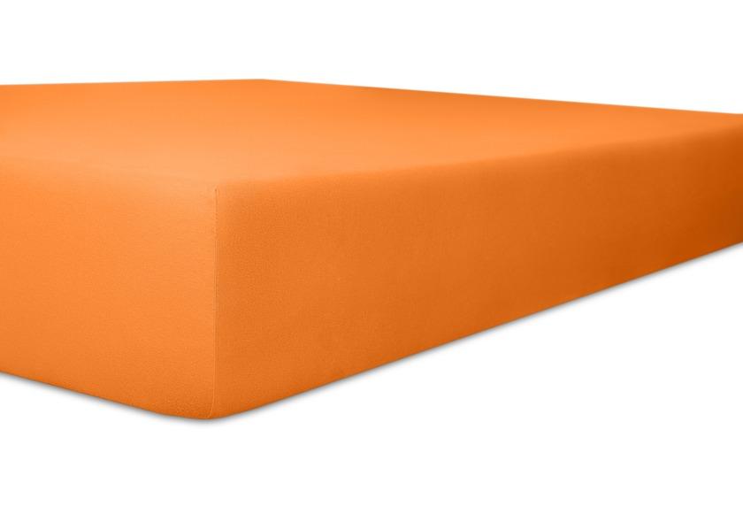 """Kneer Spannbetttuch Exclusive-Stretch \""""Qualität 93\"""" Farbe 65 orange"""