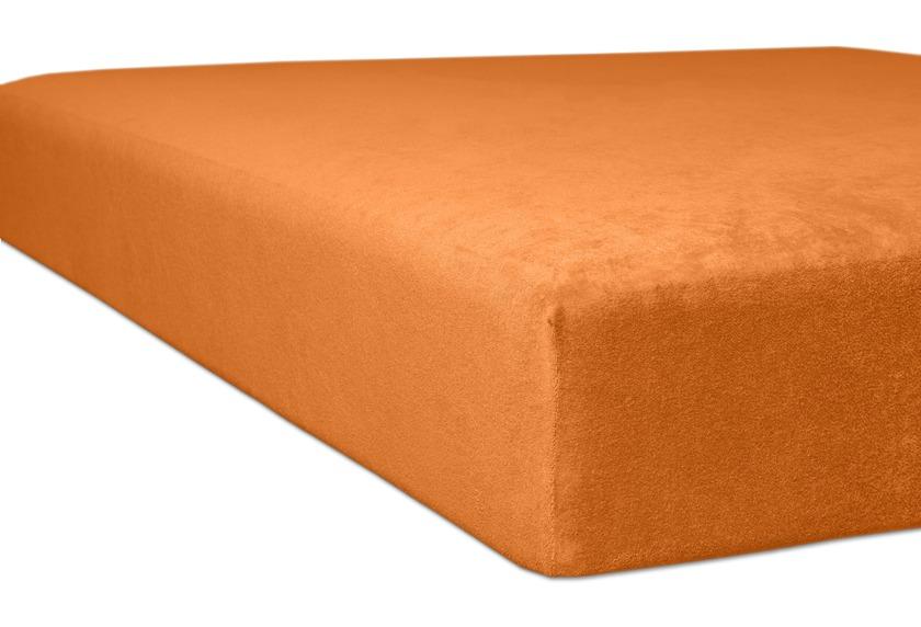 """Kneer Spannbetttuch Flausch-Biber \""""Qualität 80\"""" Farbe 65 orange"""