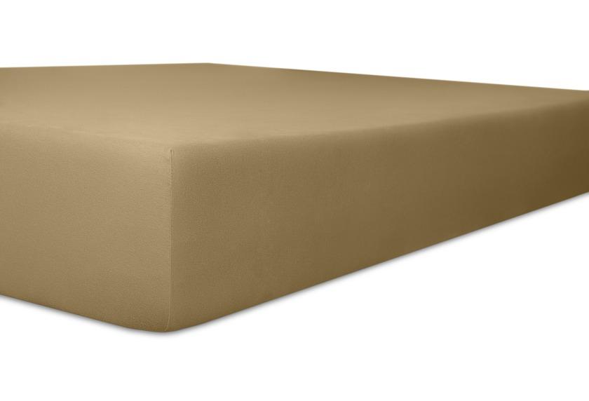 Kneer Spannbetttuch Superior-Stretch 2in1 Farbe 88 toffee