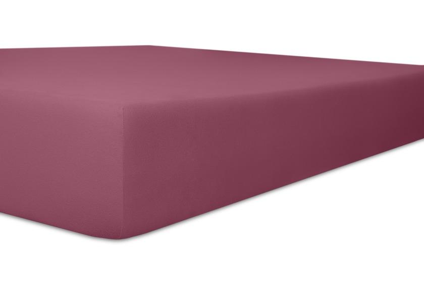 """Kneer Vario-Stretch \""""Qualität 22\"""" Spannbetttuch für Caravan, Boote und Wohnmobile Farbe 27 brombeer"""