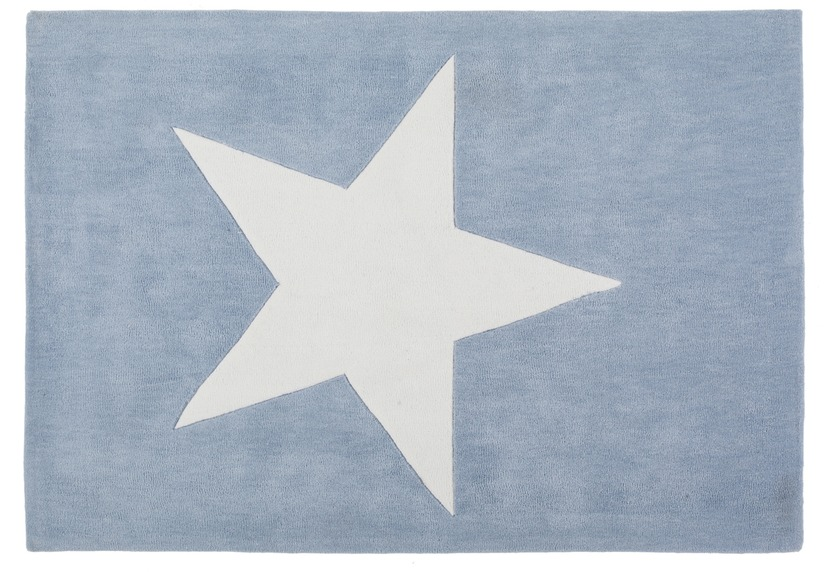Kayoom Teppich Cameroon - Douala Pastellblau 120 x 170 cm