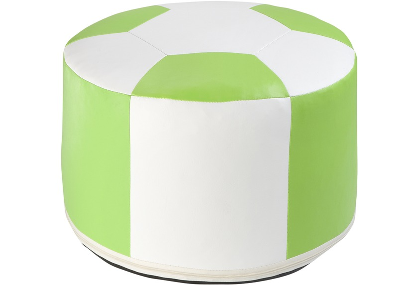 linke licardo fussball sitzkissen kunstleder weiss gr n 50 34 cm wohnaccessoires hocker bei. Black Bedroom Furniture Sets. Home Design Ideas