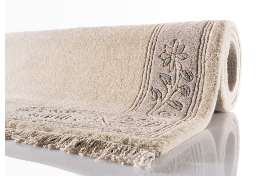 kelii nepal teppich romantico 295 creme teppich nepalteppich bei tepgo kaufen versandkostenfrei. Black Bedroom Furniture Sets. Home Design Ideas