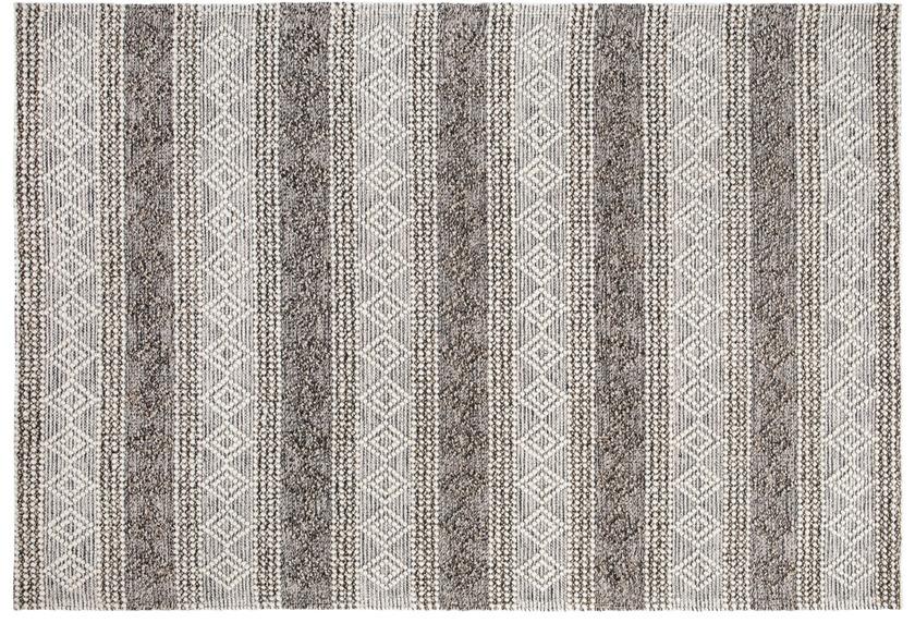 Luxor Living Teppich Aalborg grau braun gemustert 70 x 140 cm