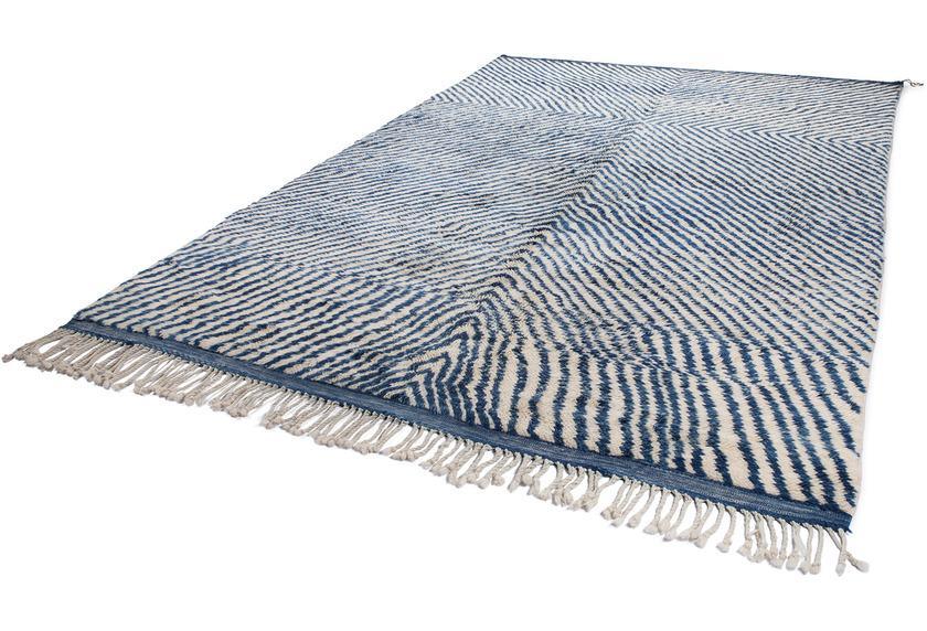 Tuaroc Teppich Beni Ourain #1 #1 blue / cream 250 x 358 cm