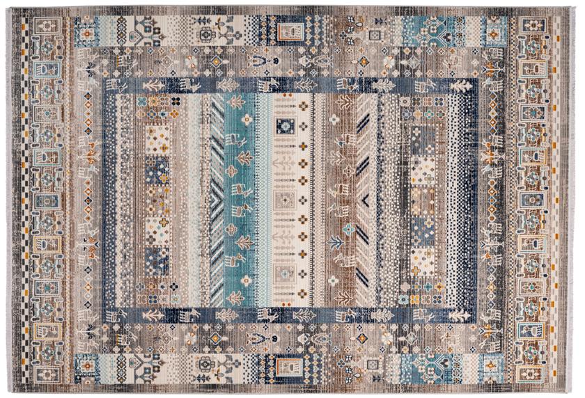 me gusta Teppich Anouk 525 Braun / Blau