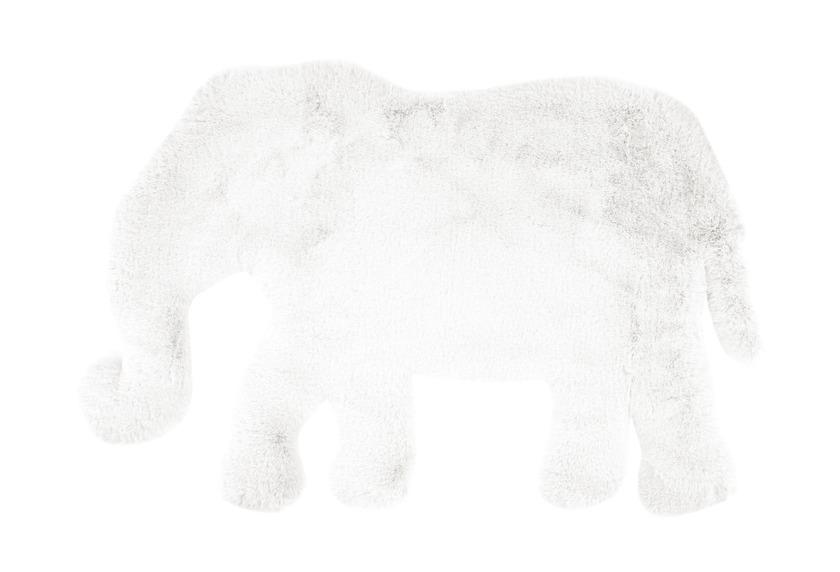 me gusta Kinderteppich Lovely Kids 125-Elephant Weiß 60 x 90 cm