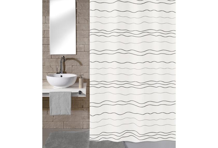 Meusch Duschvorhang Waves Multicolor 180x200 cm