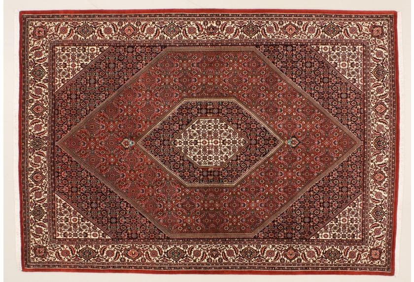 Oriental Collection Bidjar m.Seide rot 76031, Perser-Teppich