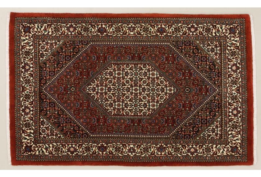 Oriental Collection Bidjar m.Seide rot 76072, Perser-Teppich