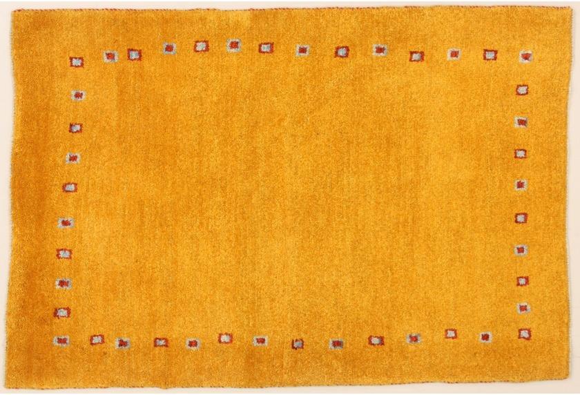 oriental collection gabbeh teppich gelb 76044 bei tepgo kaufen versandkostenfrei. Black Bedroom Furniture Sets. Home Design Ideas