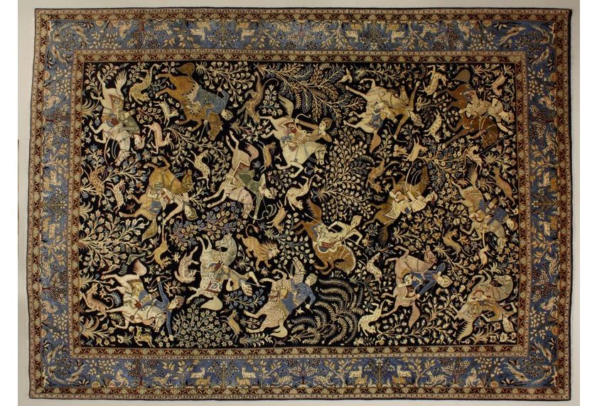 Oriental Collection Ghom blau 75995