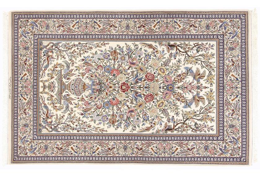 Oriental Collection Isfahan Teppich auf Seide 132 x 208 cm