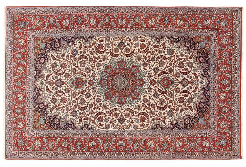 Oriental Collection Isfahan Teppich auf Seide 210 cm x 318 cm