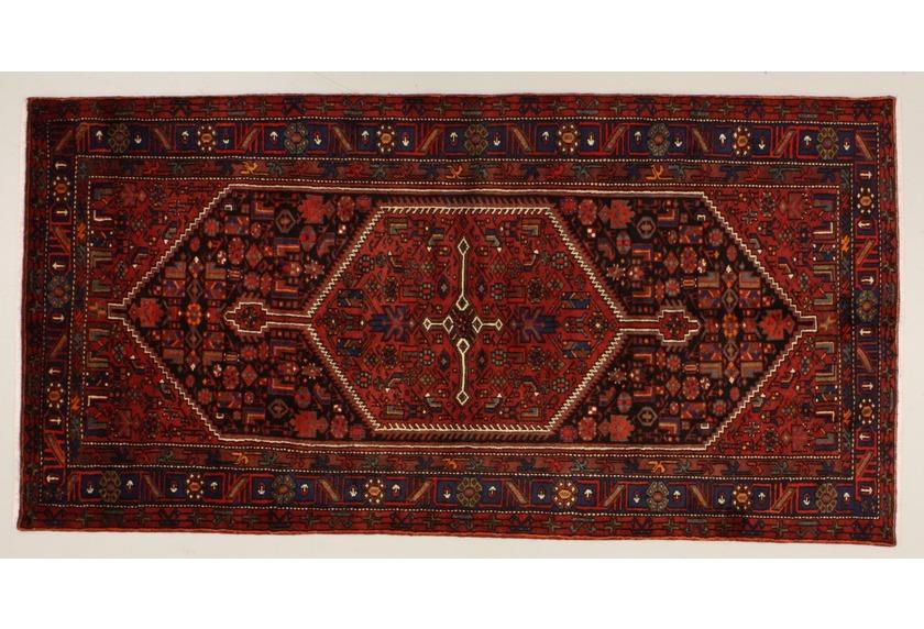 Oriental Collection Khamseh blau 76074, Perserteppich
