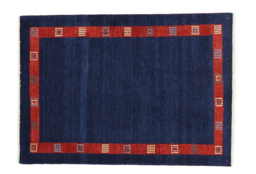 Oriental Collection Gabbeh-Teppich Loribaft 110 cm x 152 cm zeitloses Blau