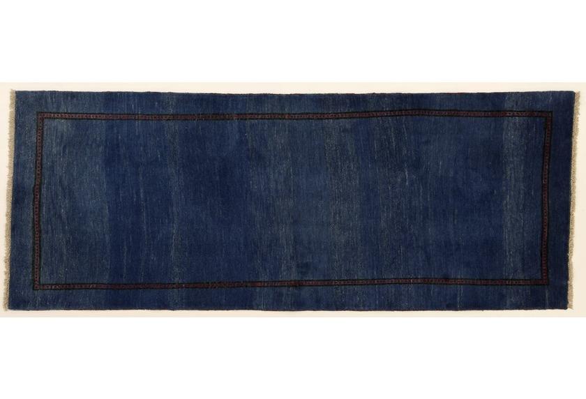 Oriental Collection Gabbeh-Teppich Rissbaft 82 x 210 cm blau
