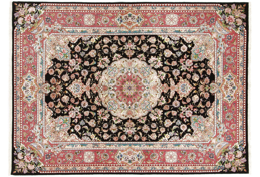Oriental Collection Täbriz Teppich 60raj auf Seide 150 x 203 cm