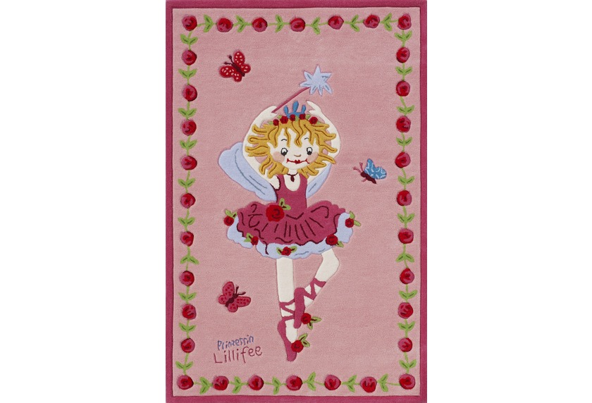 Prinzessin Lillifee Ballett Kinder-Teppich rosa/pink, Öko-Tex ...
